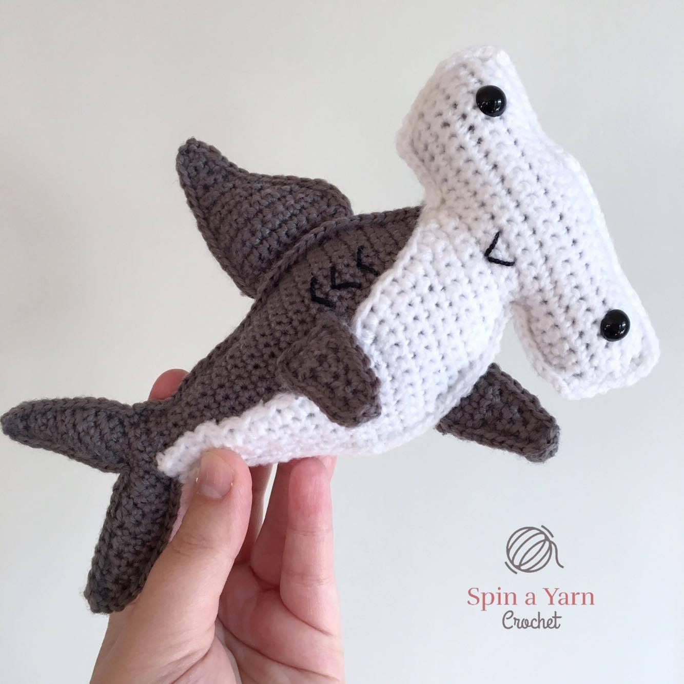 3329fca43d7 Hammerhead Shark Free Crochet Pattern • Spin a Yarn Crochet