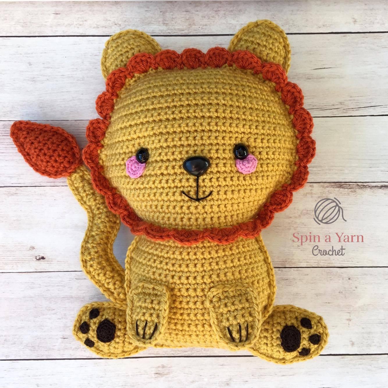 Free Lion Amigurumi Pattern Pattern - Crochet Pattern - Daisy and ... | 1334x1334