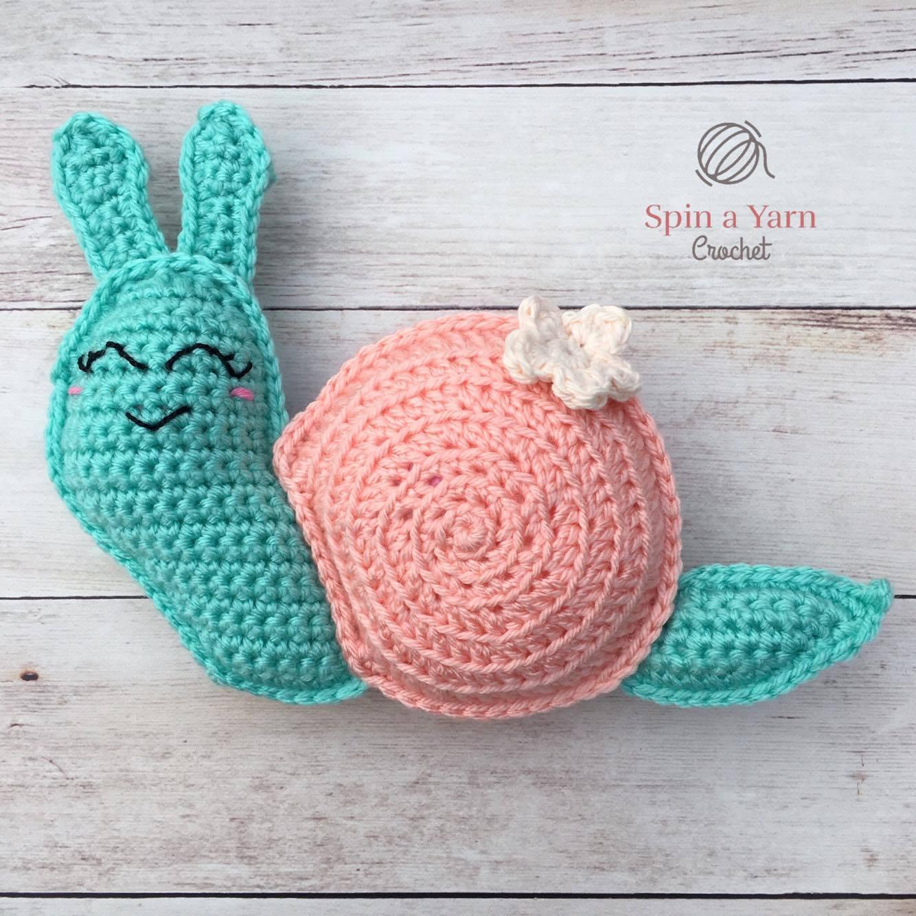 Amigurumi snail free pattern | 1334x1334