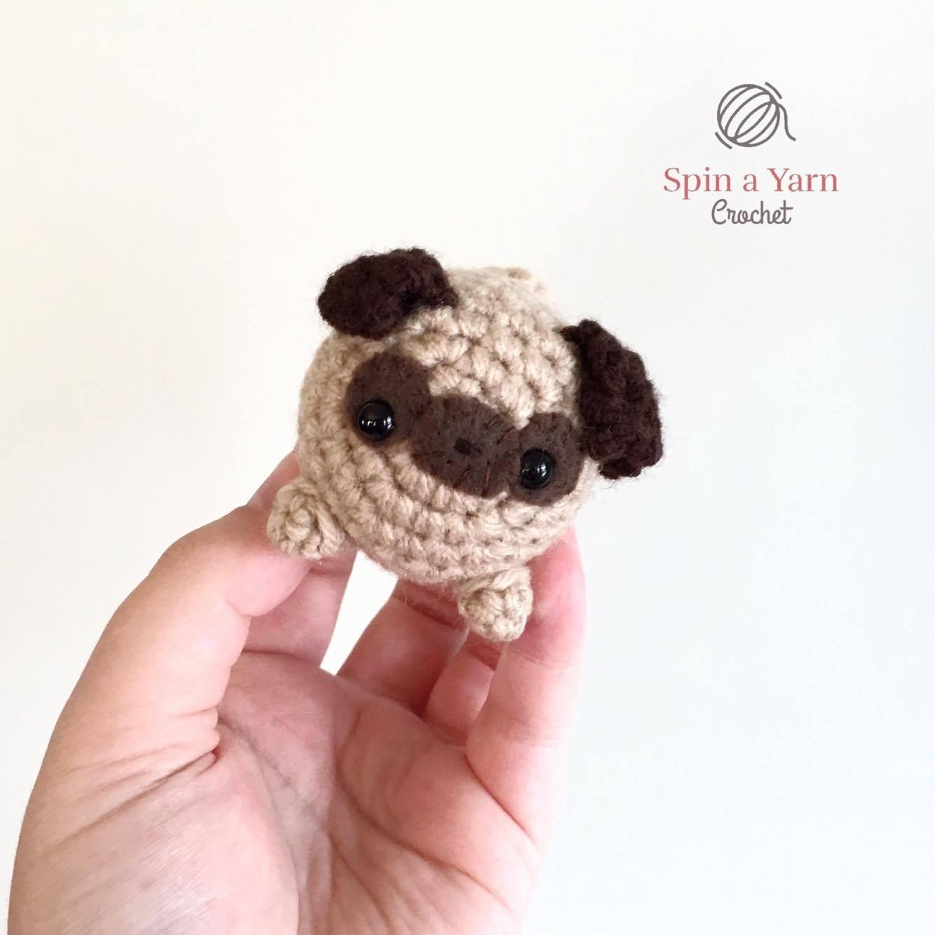 miniature pug - crochet amigurumi pattern | 1334x1334