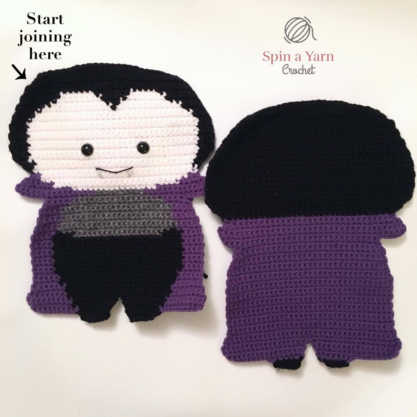 Vampirina tejida a crochet by Grumis Tejidos. Facebook ... | 1334x1333