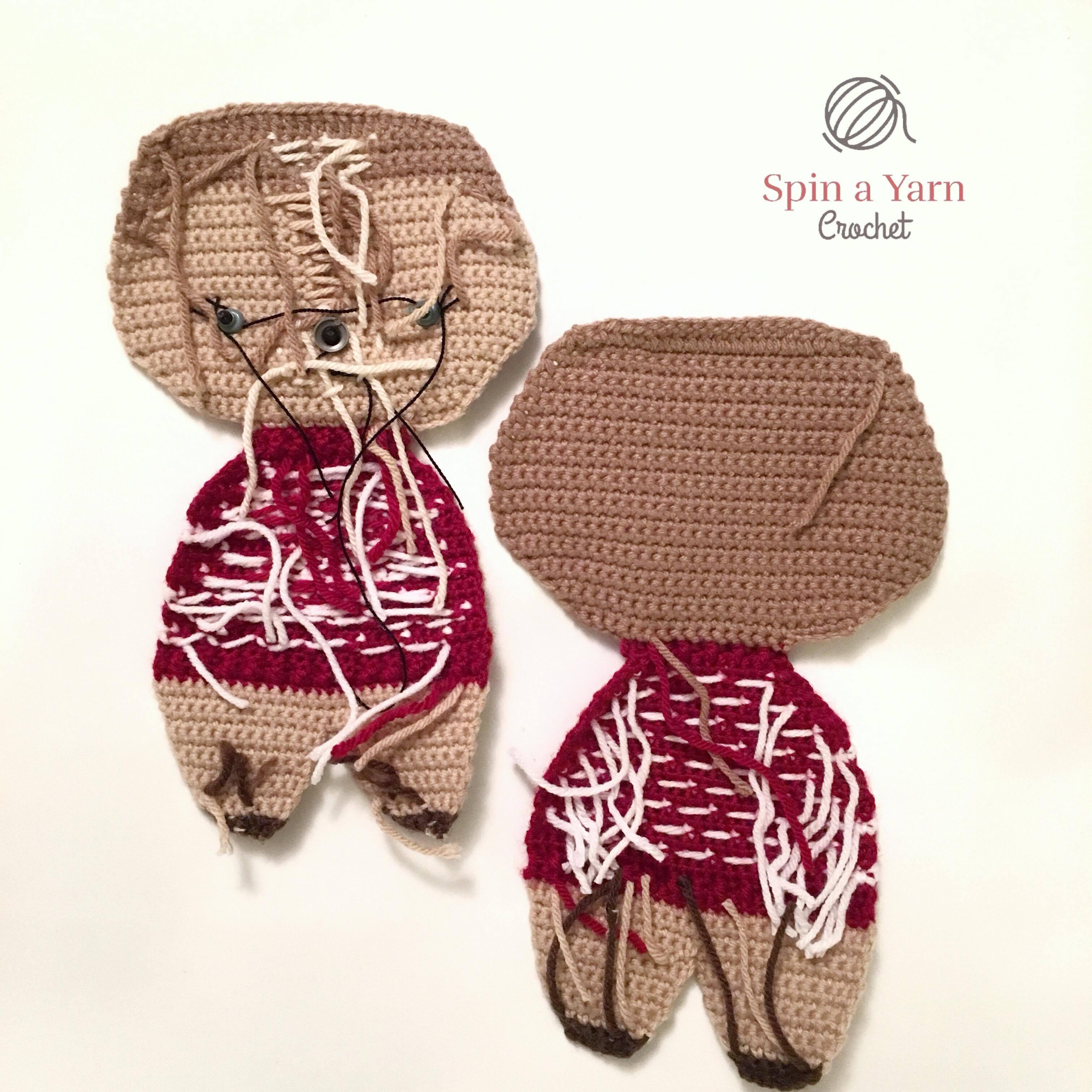 Holiday Deer Free Crochet Pattern Part 1 Spin A Yarn Crochet