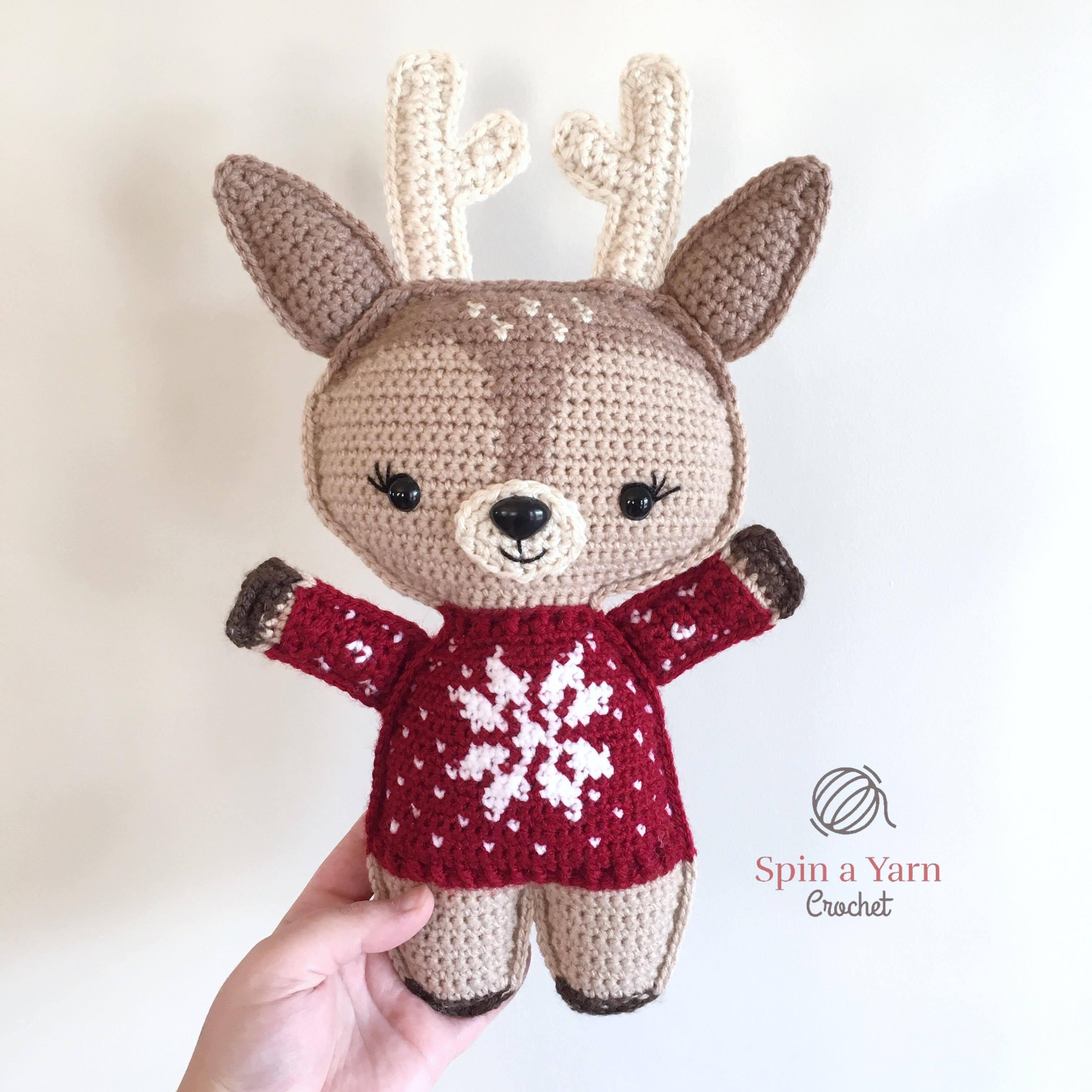 Holiday Deer Free Crochet Pattern (Part 1!) • Spin a Yarn Crochet 6e4d5f77773