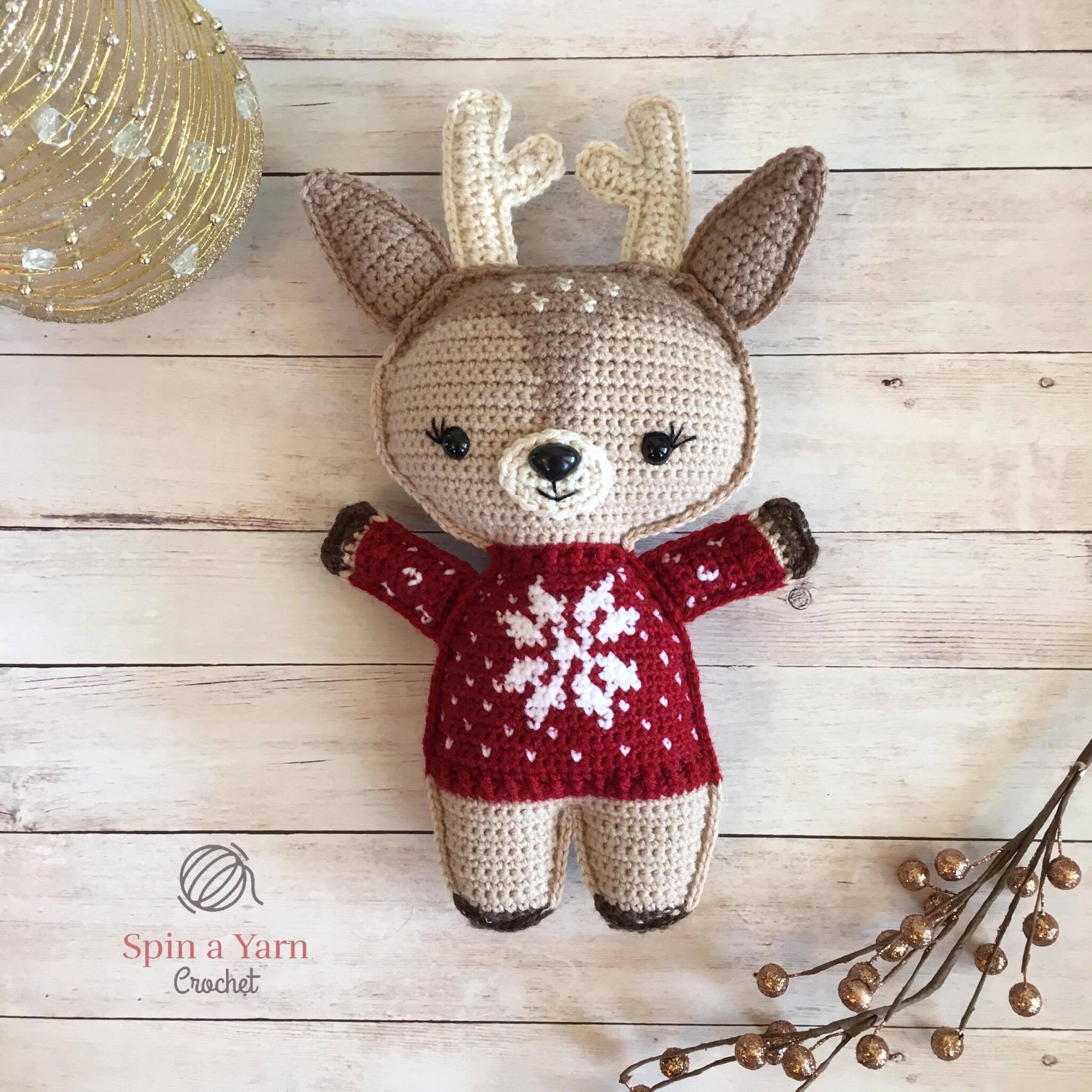 Holiday Deer Free Crochet Pattern (Part 1!) • Spin a Yarn Crochet ce73dc67710