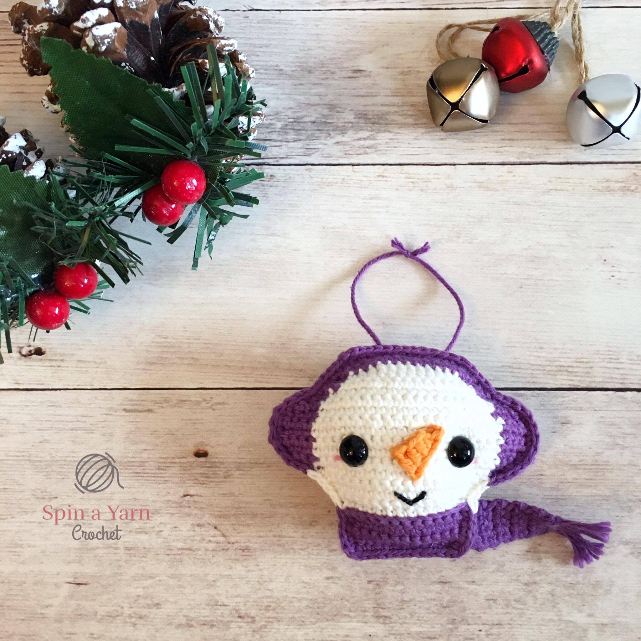 Snowman Ornament Free Crochet Pattern • Spin a Yarn Crochet