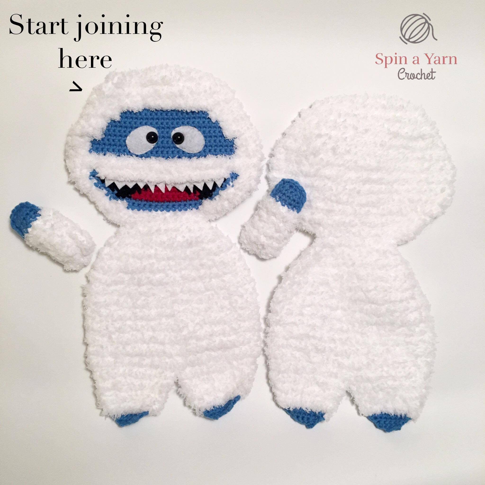 0e1779a7e2558 Bumble the Abominable Snowman Free Crochet Pattern • Spin a Yarn Crochet