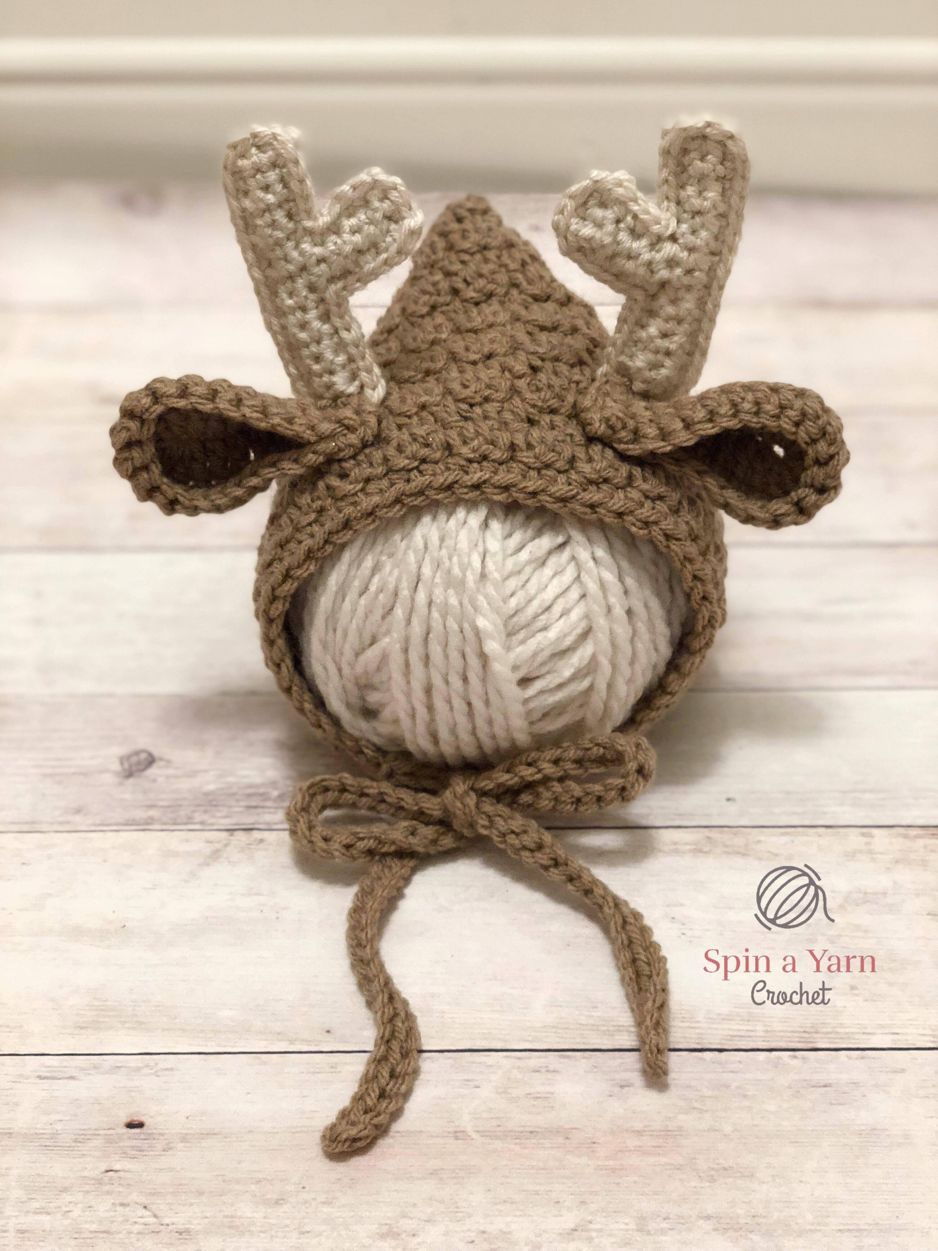 5cc41fb67e30b Newborn Deer Bonnet • Spin a Yarn Crochet