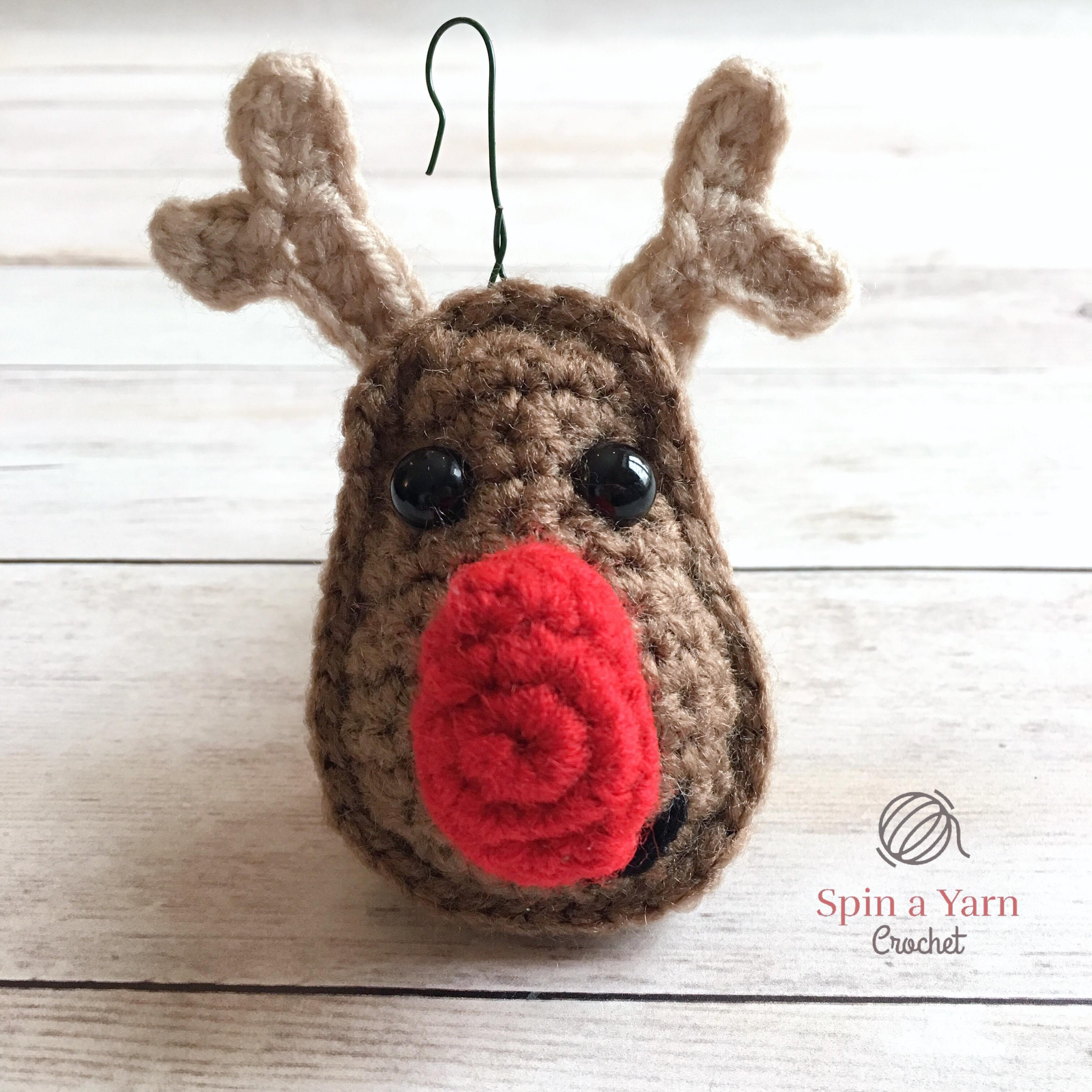 Reindeer Ornament Free Crochet Pattern • Spin a Yarn Crochet 852cfd77e0f