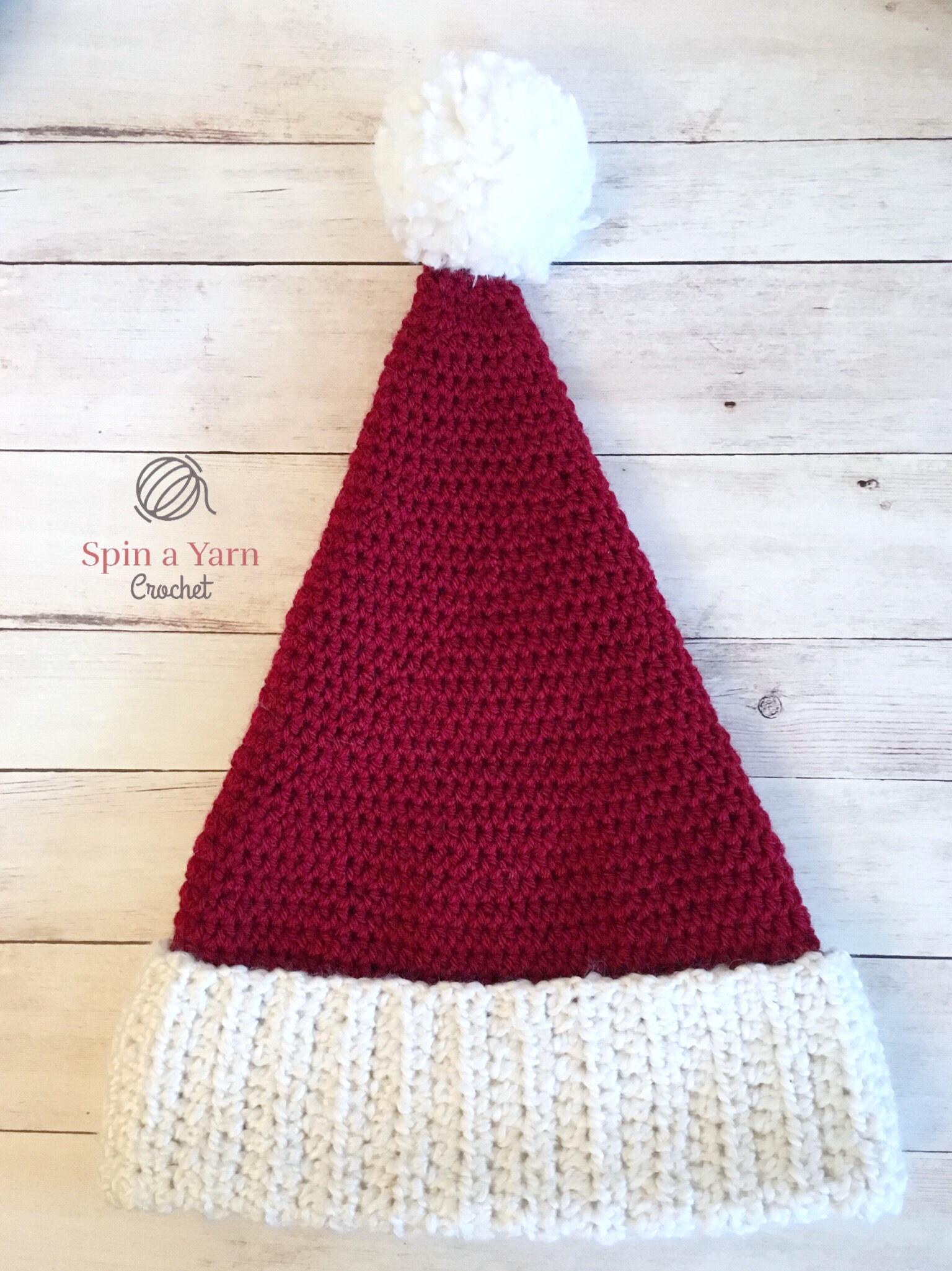 Santa Hat Free Crochet Pattern • Spin a Yarn Crochet 797e9242e0b