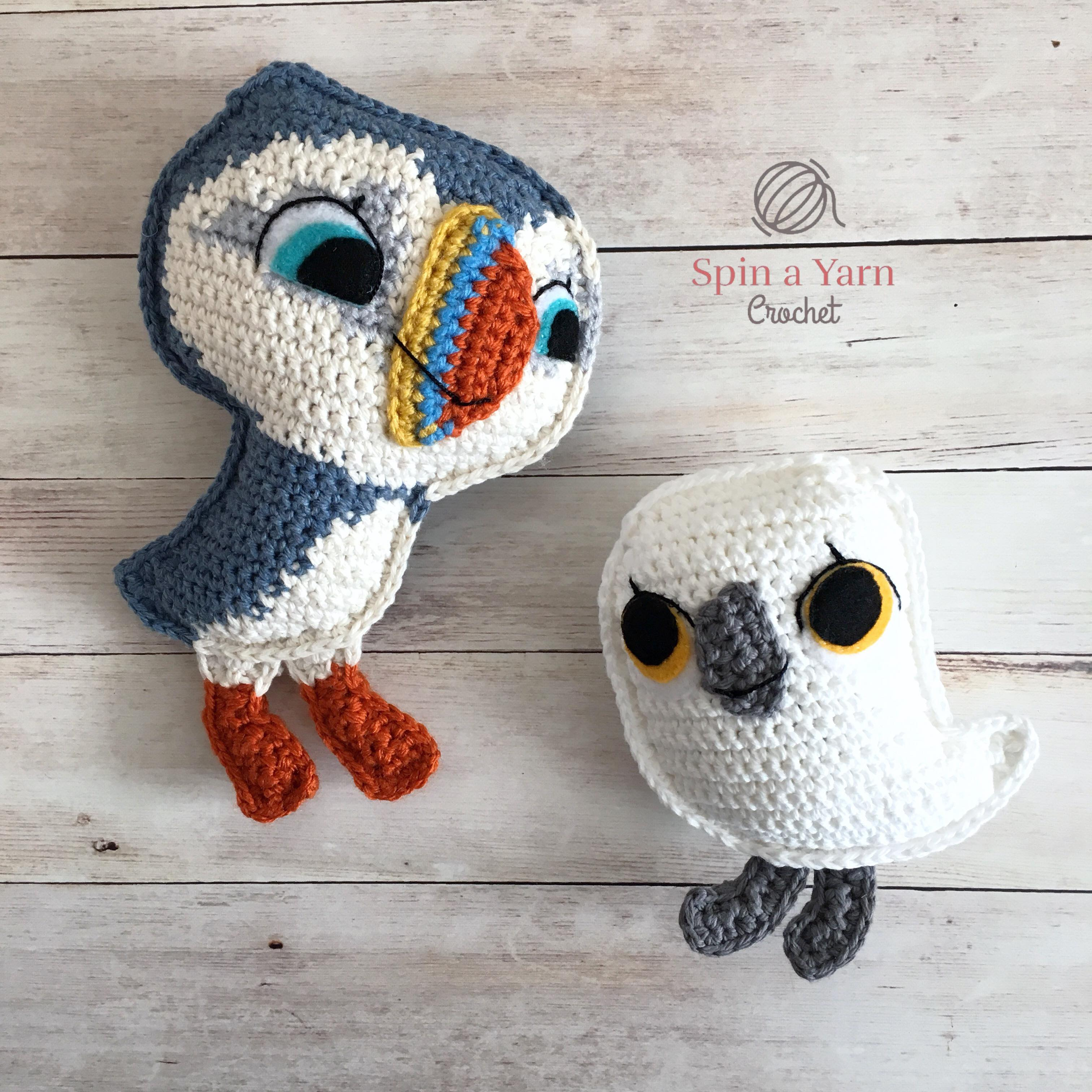 Oona the Puffin Free Crochet Pattern • Spin a Yarn Crochet