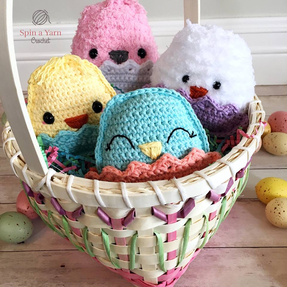 Chubby Spring Chicks Free Crochet Pattern • Spin a Yarn Crochet