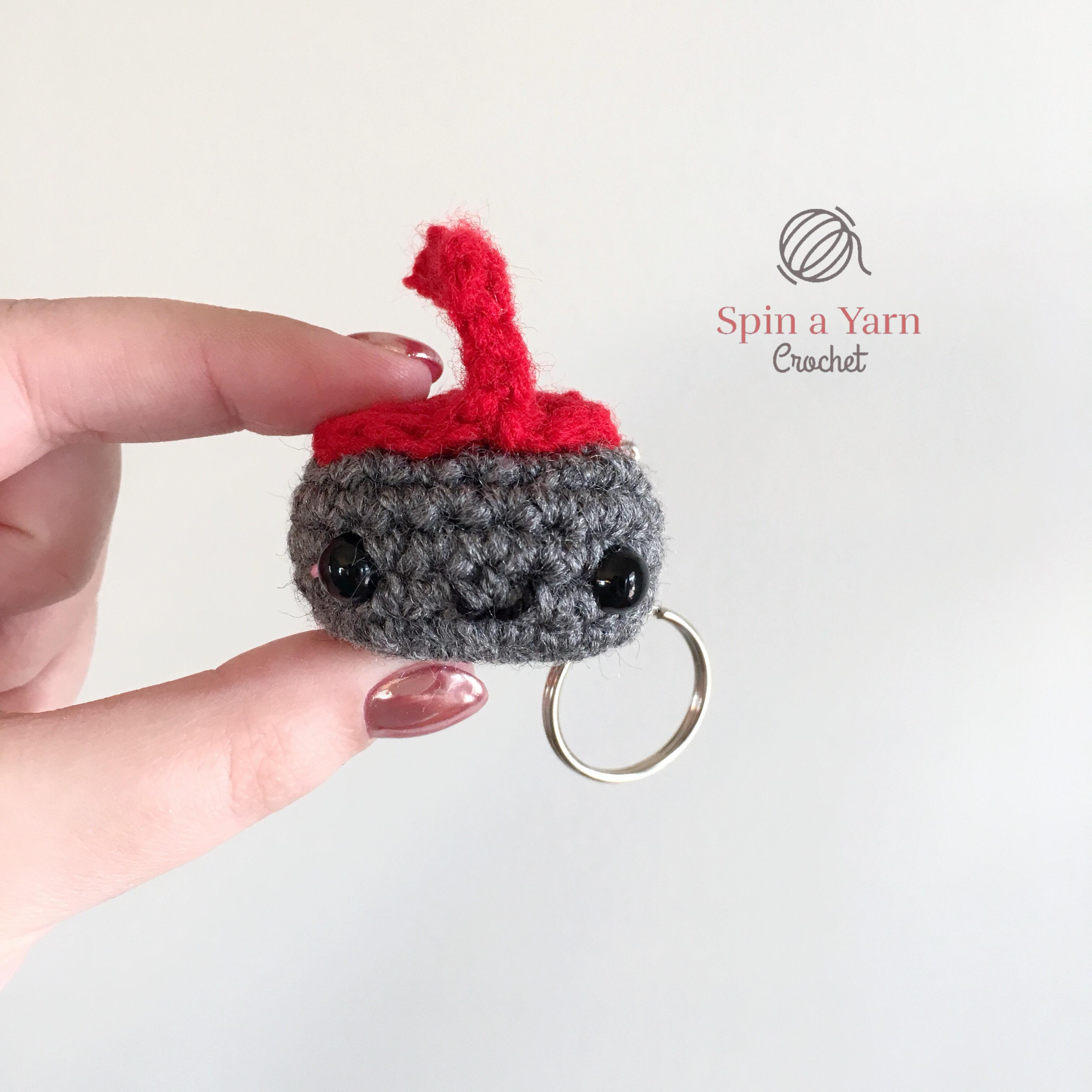 Kawaii Curling Stone Free Crochet Pattern • Spin a Yarn Crochet
