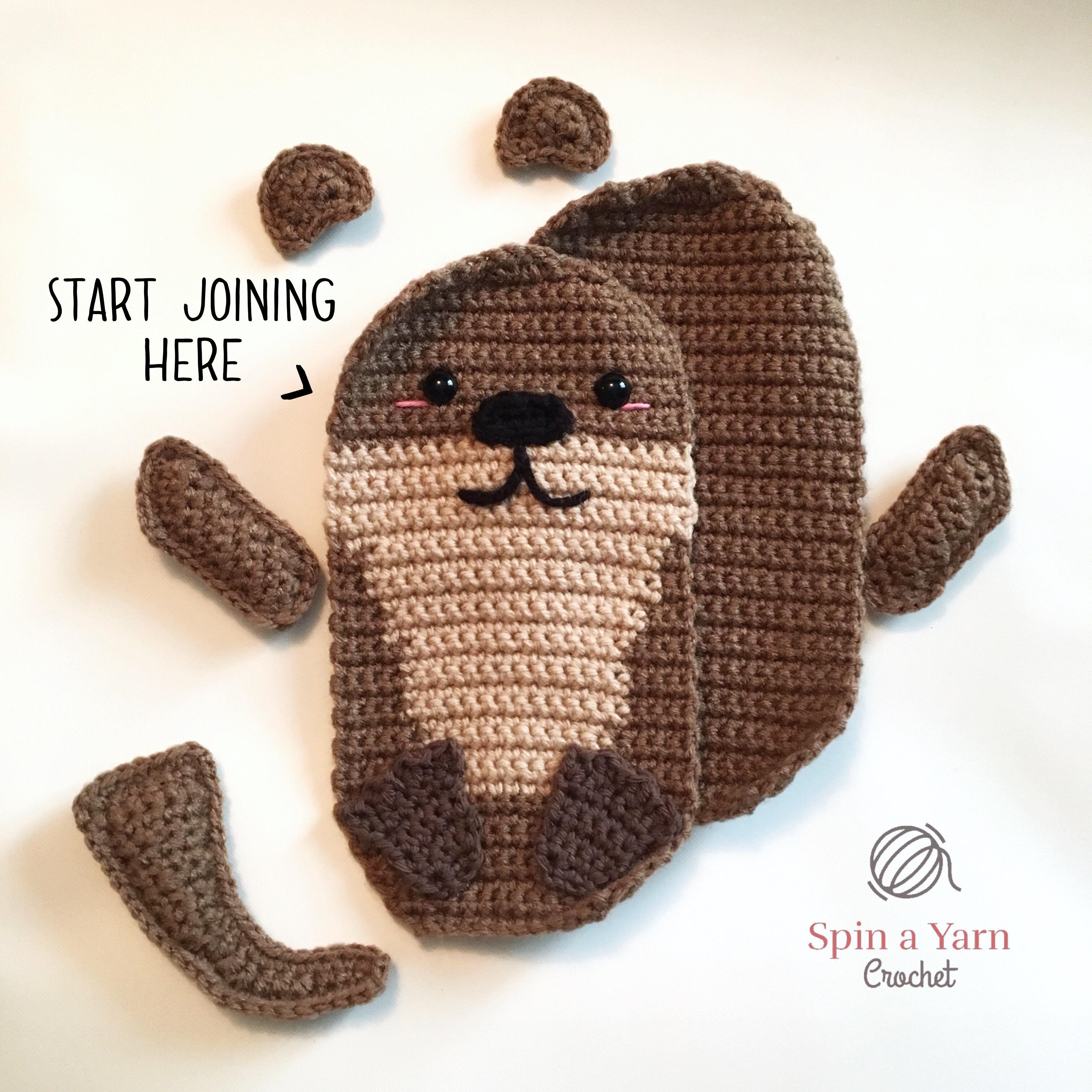 Amigurumi Otter Family Free Crochet Pattern Spin A Yarn Crochet