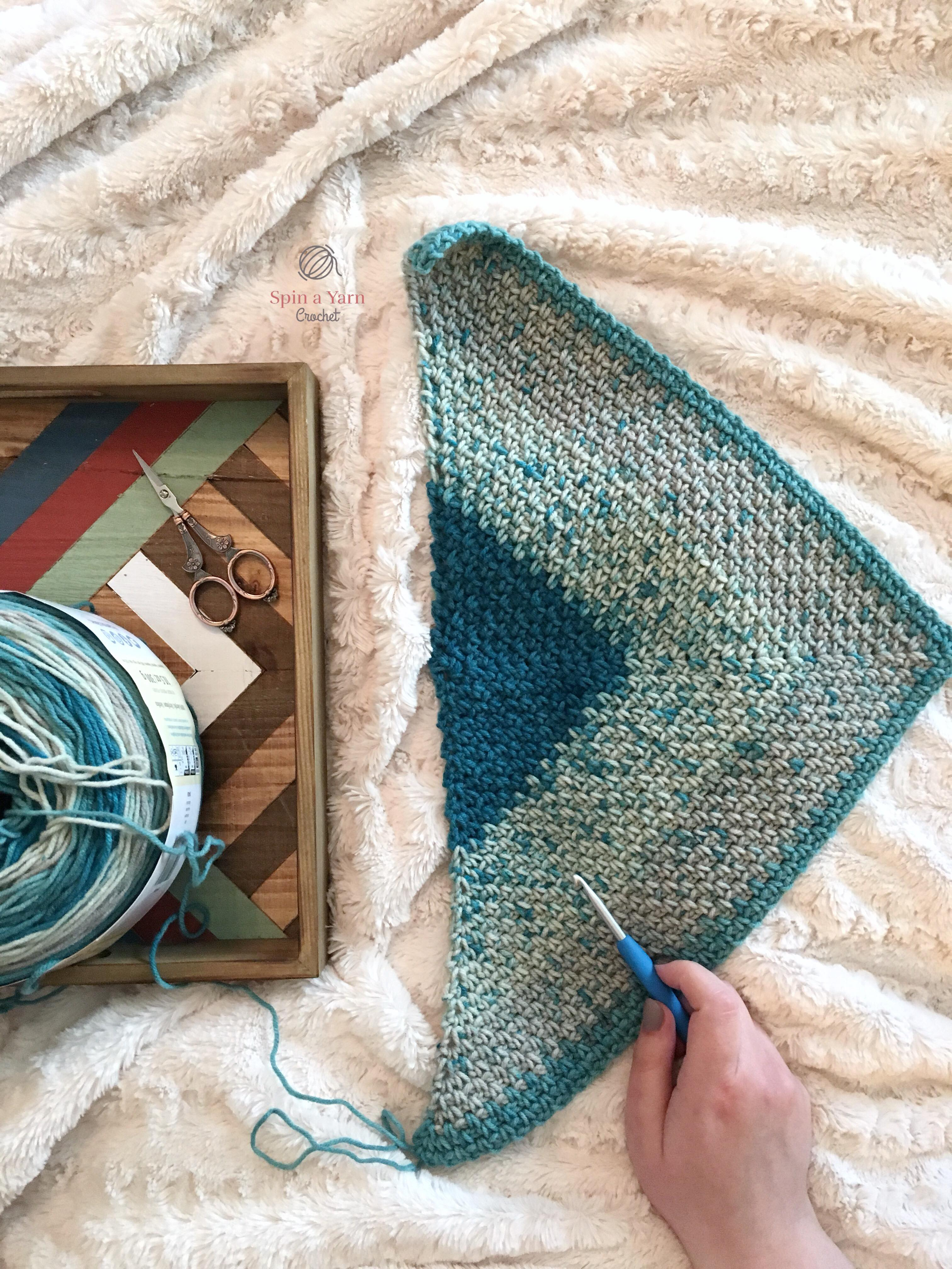 Moss Stitch and Caron Cakes • Spin a Yarn Crochet