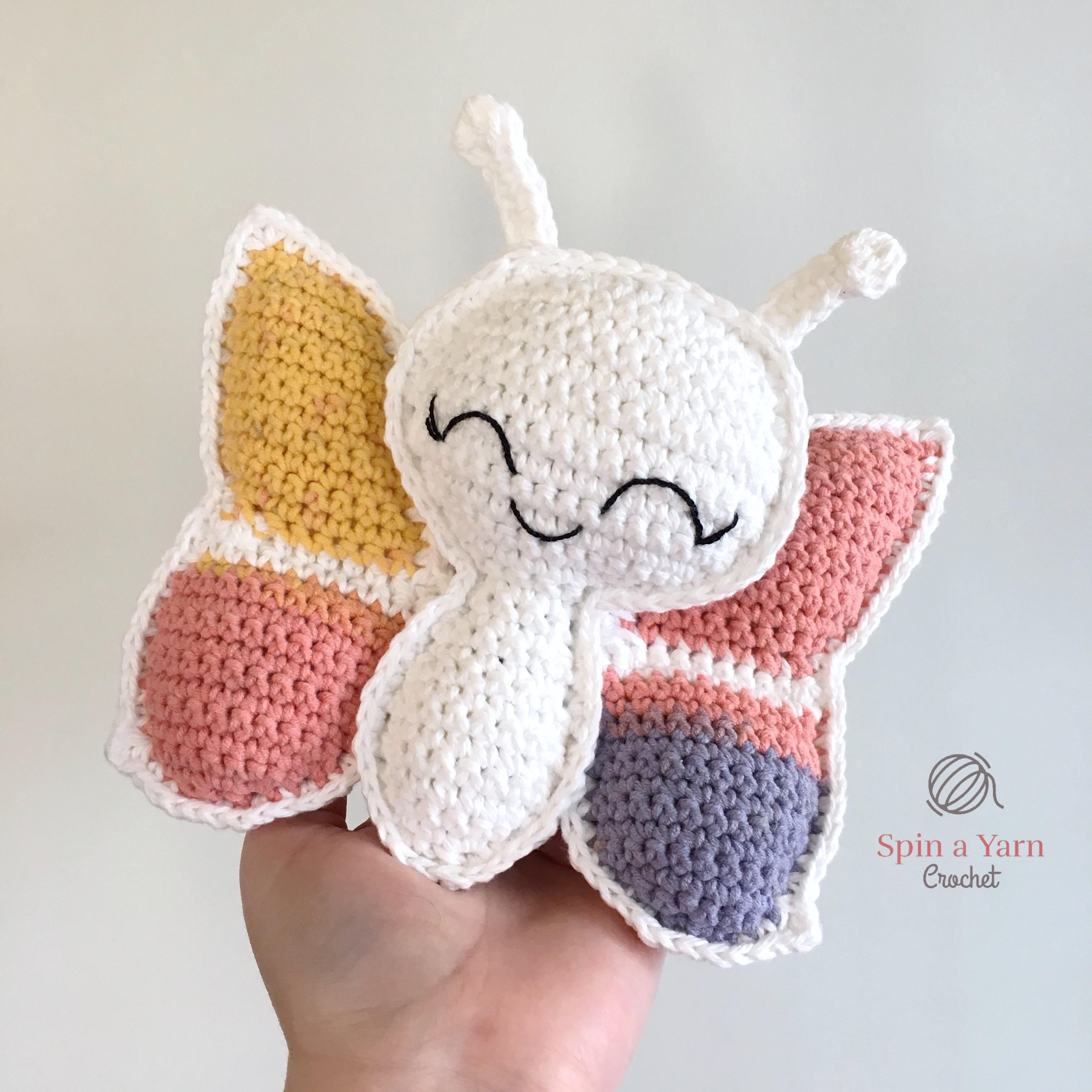 Butterfly Amigurumi Free Crochet Pattern • Spin a Yarn Crochet