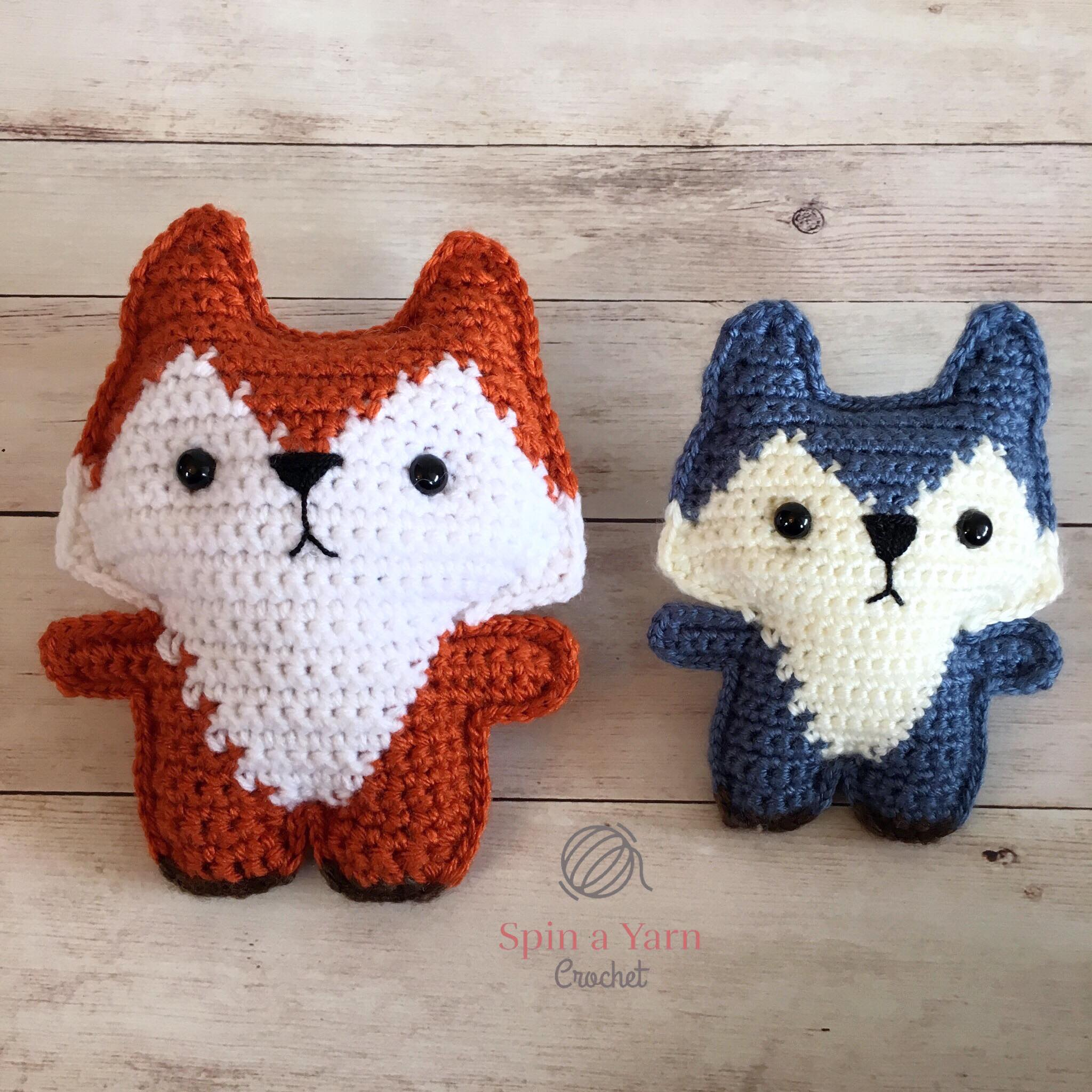 Sleepy Fox Amigurumi Crochet Pattern | 2048x2048