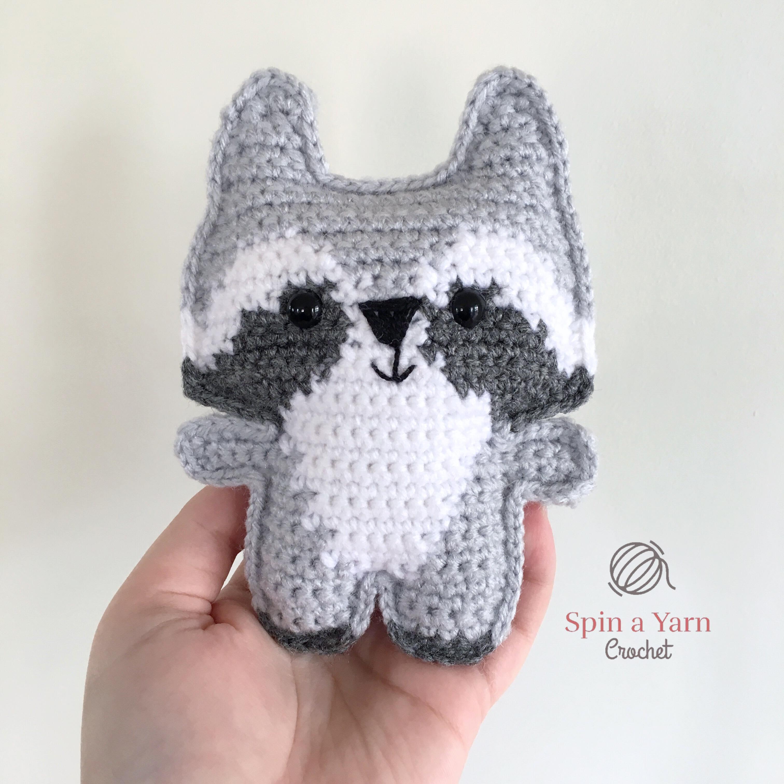 Pocket Raccoon Free Crochet Pattern • Spin a Yarn Crochet