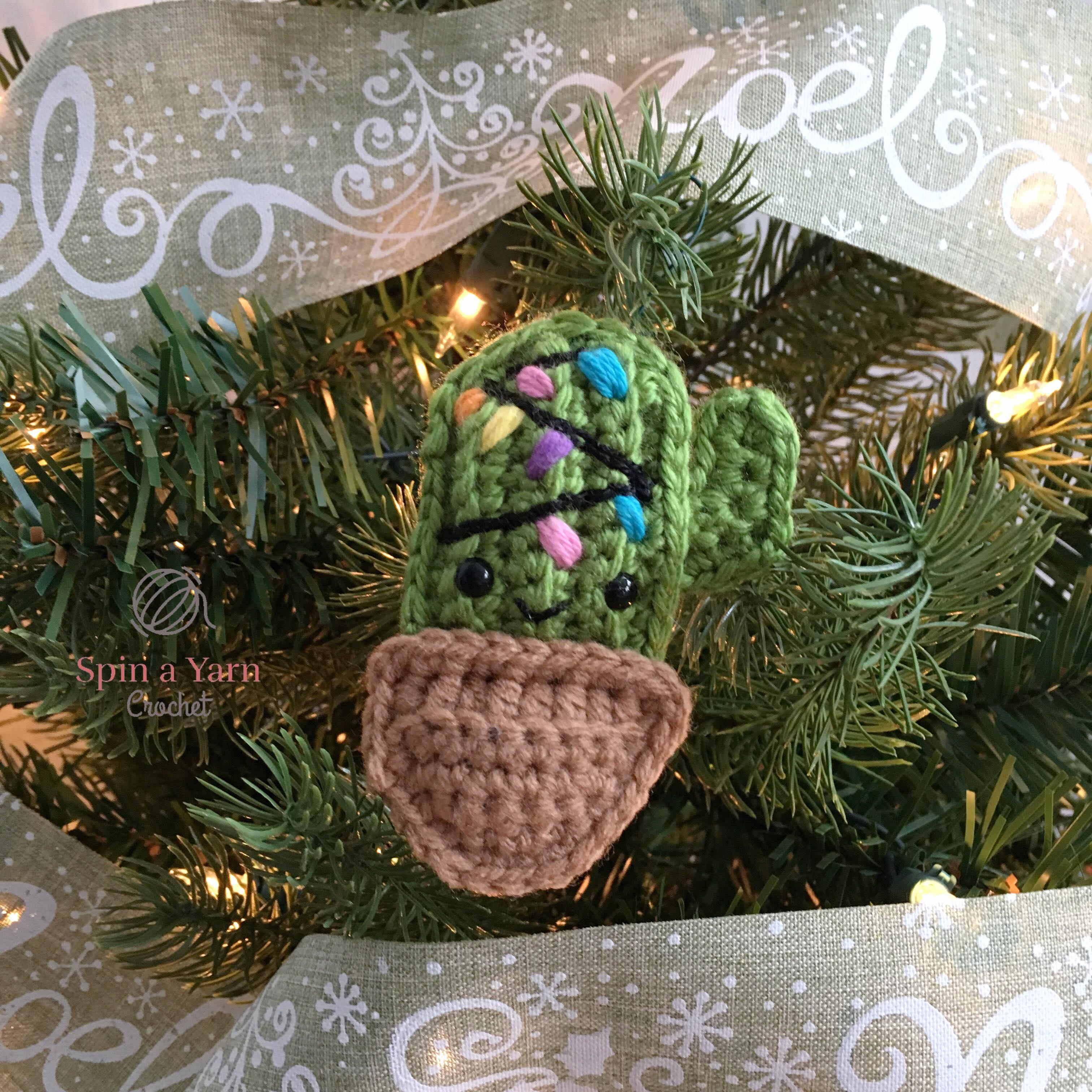 Cactus Ornament Free Crochet Pattern Spin A Yarn Crochet