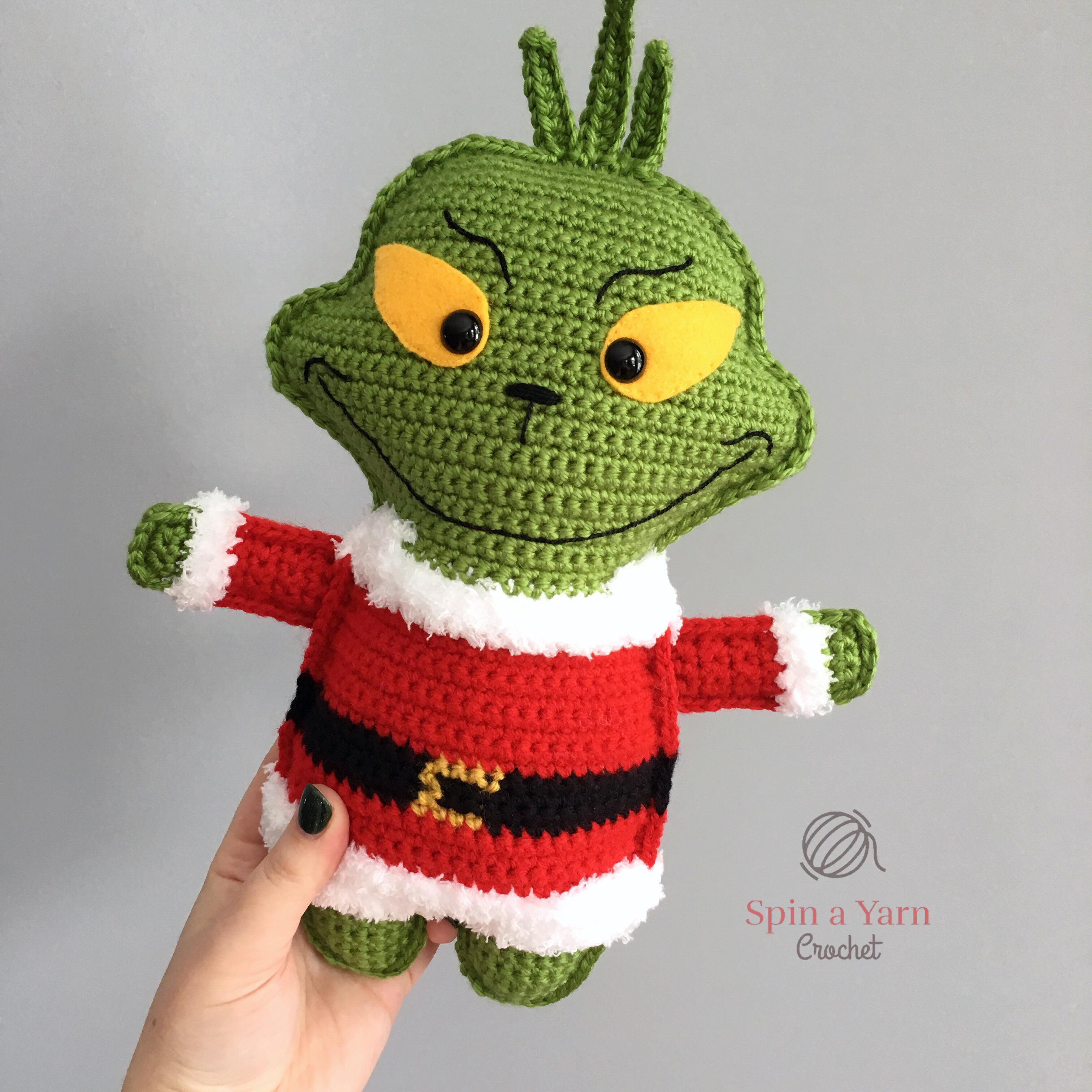 Digital Download GRINCH Inspired Crochet *PATTERN Only* PDf Instant Download Crochet Christmas Amigurumi