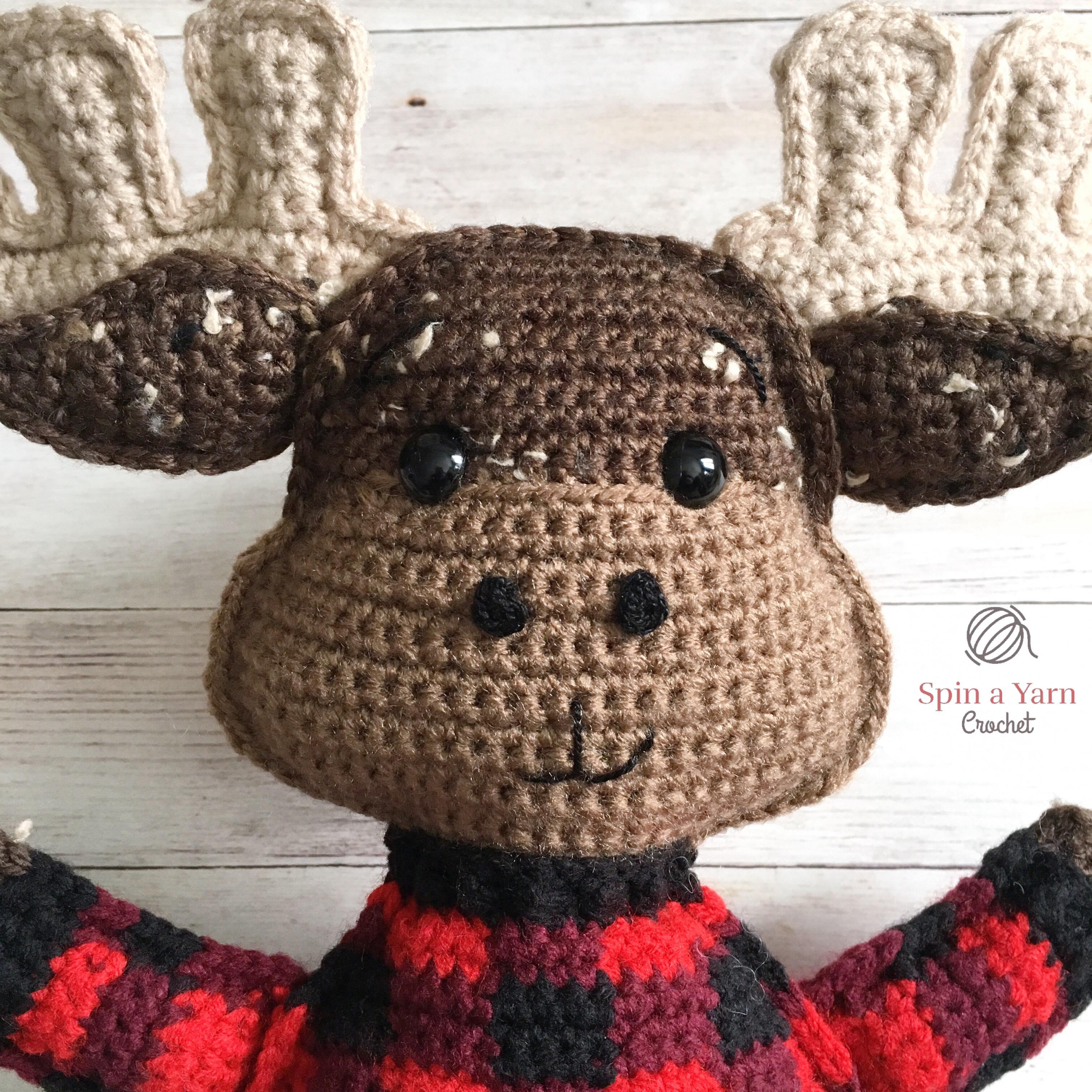 efbf7ad00 Moose Amigurumi Free Crochet Pattern • Spin a Yarn Crochet