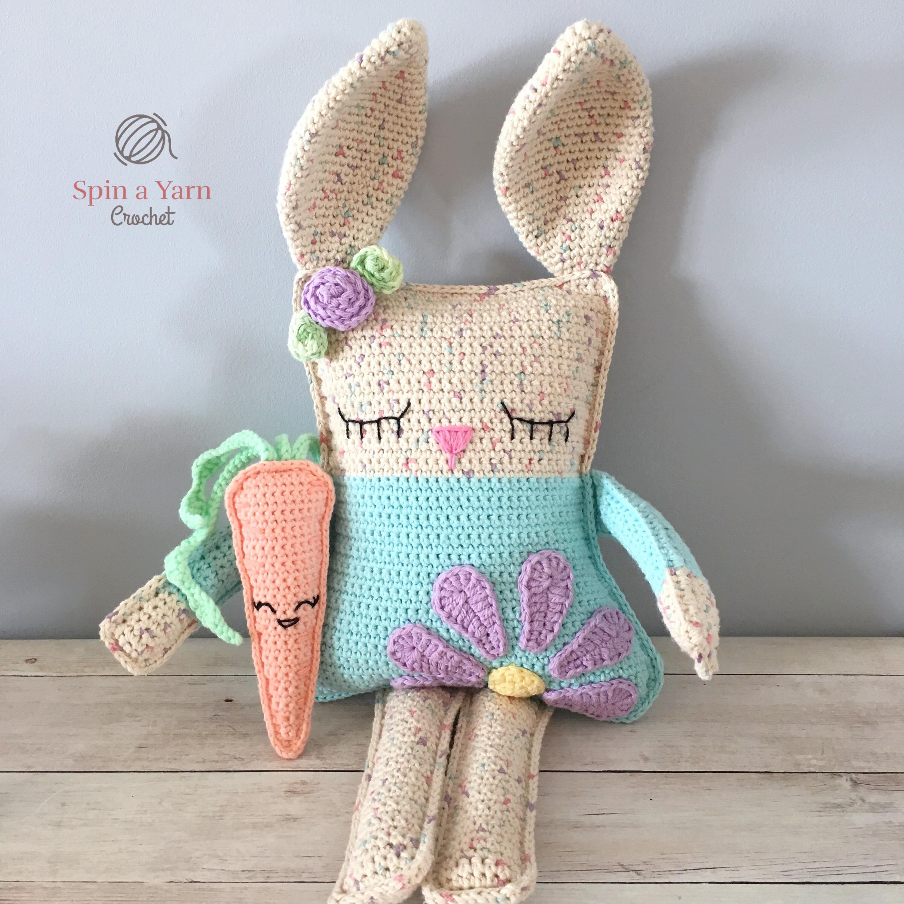Amigurumi bunny and carrot free patterns | Amigurumi Space | 3024x3024