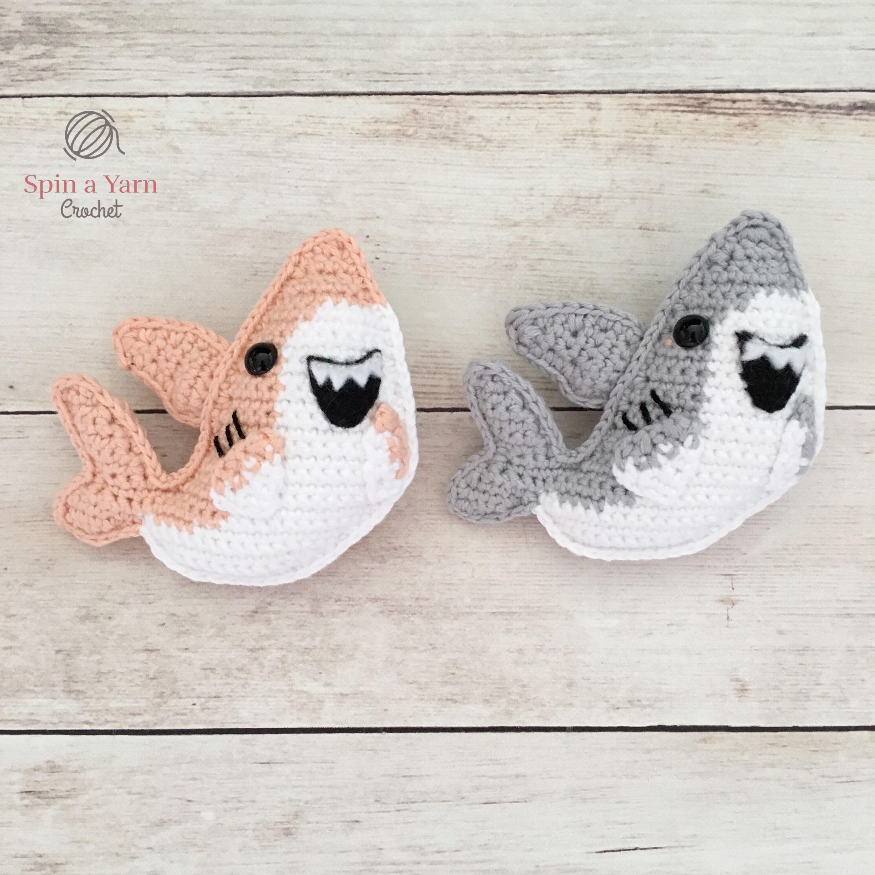 Cute Shark Amigurumi Free Crochet Patterns | 3024x3024